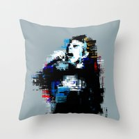 wasted rita Throw Pillows featuring Wasted by magnojam
