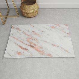Lenola - minimalist rose gold gleam marble Rug