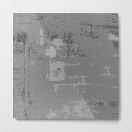 Industrial Grey Grunge Abstract Texture Concrete Pattern Metal Print