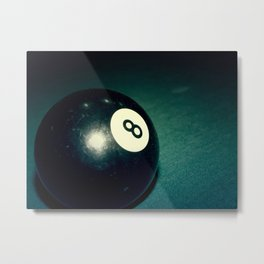 Eight Ball-Teal Metal Print