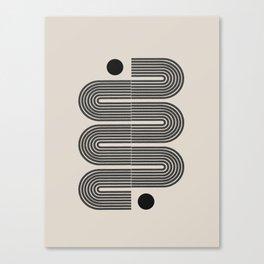 Geometric Mid Century Art Canvas Print
