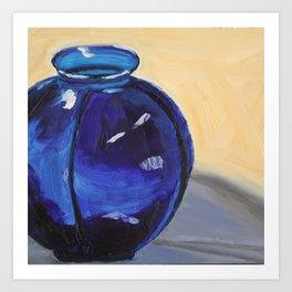 Mother's Blue Vase Art Print