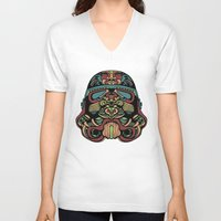 trooper V-neck T-shirts featuring Candie Trooper by Quakerninja