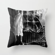 The magic of that Christmas tree. It wraps itself around us every year and will go on forever. Throw Pillow