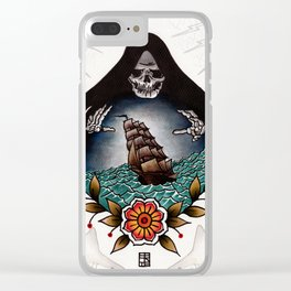 Tonight We Make Our Bed At The Bottom Of The Sea Clear iPhone Case