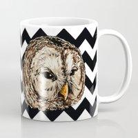 twin peaks Mugs featuring Twin Peaks by Avlis Leumas