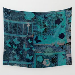 butterflies_I turquoise Wall Tapestry
