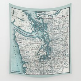 Puget Sound Map Wall Tapestry