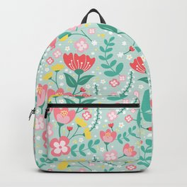 Flower Lovers - Green Backpack