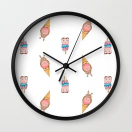 Ice Cream for a Hot Summer Wall Clock