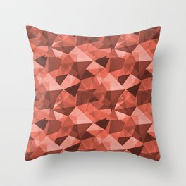 Pantone Living Coral Abstract Geometrical Triangle Patterns 4 Pantone Living Coral Throw Pillow