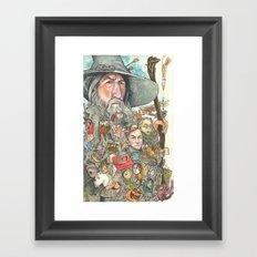 Gandalf's Beard Framed Art Print