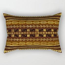 Ethnic African Golden Pattern on brown Rectangular Pillow