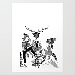 FOREST FOLK Art Print