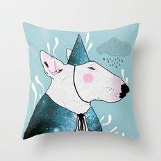 Bulterier Czarodziej Throw Pillow