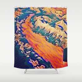 Alpine Overflight Shower Curtain