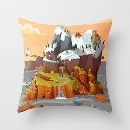 L'île aux copains automne/hiver Throw Pillow