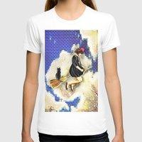 kiki T-shirts featuring kiki and Jiji   by grapeloverarts