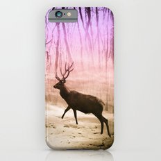 Deer in a foggy forest iPhone 6s Slim Case