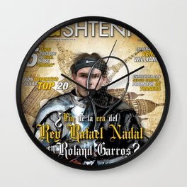 Rafael Nadal in Shinning Armor Wall Clock
