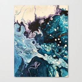 BUBBLEGUM GALAXY | Acrylic fluid art by Natalie Burnett Art Canvas Print
