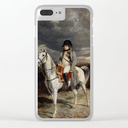 Napoleon Bonaparte On Horseback Clear iPhone Case