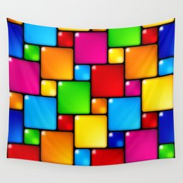 Colors and squares Wall Tapestry