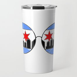 chicaGOggles skyline Travel Mug