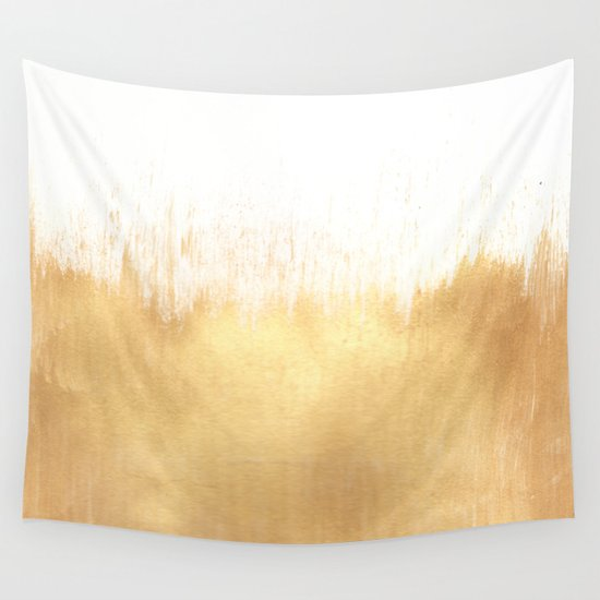 Brushed Gold Wall Decor : Brushed gold wall tapestry by caitlin workman society