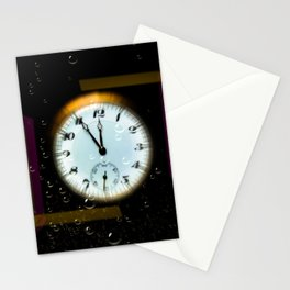 Time passes like soap bubbles Stationery Cards
