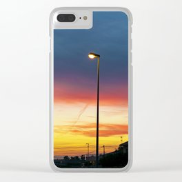 townscape at sunset Clear iPhone Case