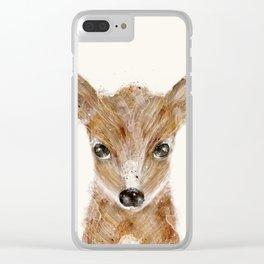 little deer fawn Clear iPhone Case