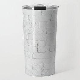 White Brick Wall - Photography Travel Mug