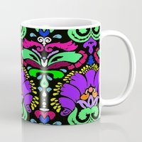 damask Mugs featuring Damask by Urlaub Photography