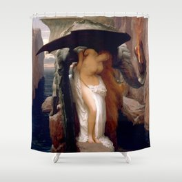 """Frederic Leighton """"Perseus and Andromeda"""" Shower Curtain"""