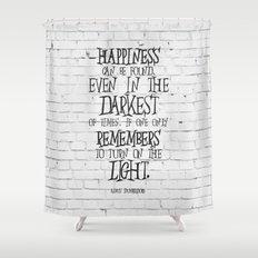 Albus Dumbledore Quote Inspirational Shower Curtain