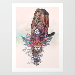 Journeying Spirit (Mountain Lion) Art Print
