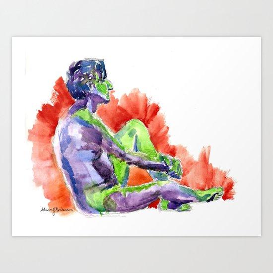 in full living technicolor Art Print