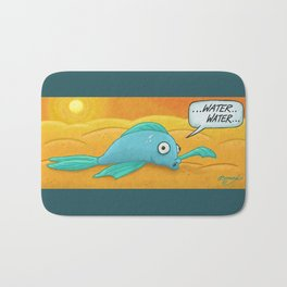Fish in the Desert! Bath Mat