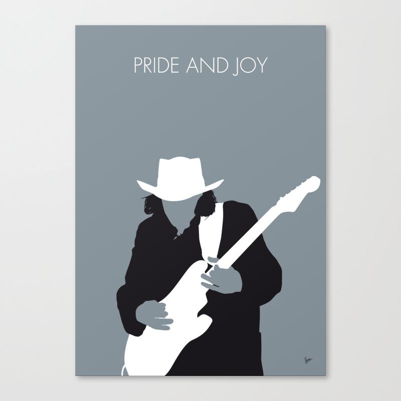 No087 My Stevie Ray Vaughan Minimal Music Poster Canvas Print by Chungkong CNV7993090
