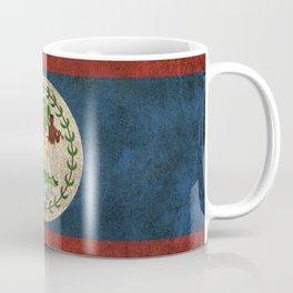 Old and Worn Distressed Vintage Flag of Belize Coffee Mug