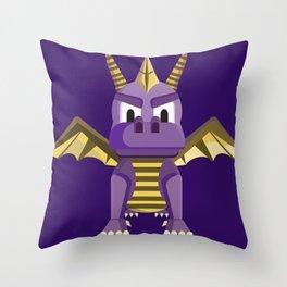 Spyro vector character fanart Throw Pillow