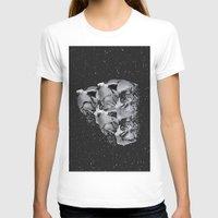 skulls T-shirts featuring Skulls by Mrs Araneae