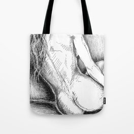 Woman Reclining in Morning Sunlight Tote Bag