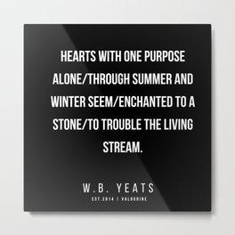 85    |200418| W.B. Yeats Quotes| W.B. Yeats Poems Metal Print