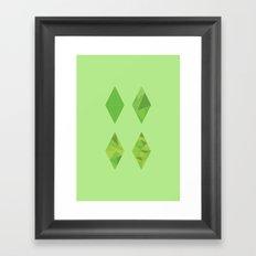 Simulation 1-4 Framed Art Print