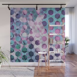 Circles on Triangles Lavenders Blues Wall Mural