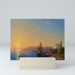 View of Constantinople and the Bosphorus Landscape Masterpiece by Ivan Aivazovsky Mini Art Print