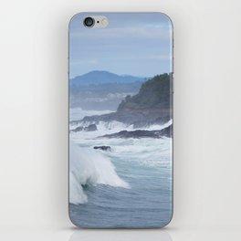Crashing Waves In Blue iPhone Skin