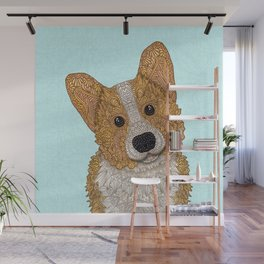 Cute Corgi Wall Mural
